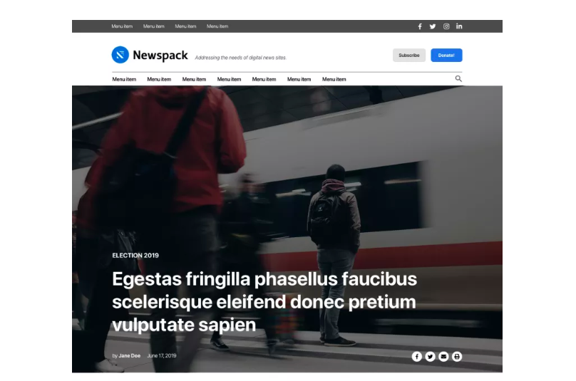 HomePage con Newspack (Automatic)