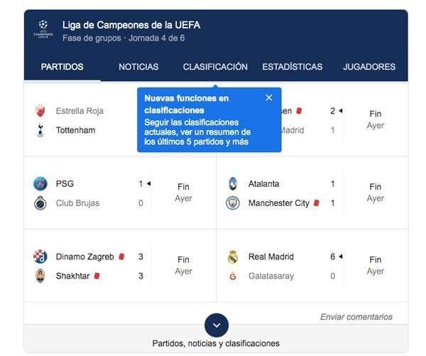 Google da en directo la Champions League y puede hundir el 50% de tráfico de estas páginas