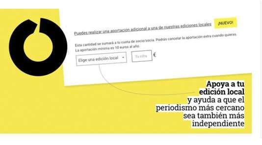 eldiario.es activa el botón de apoyar una edición local