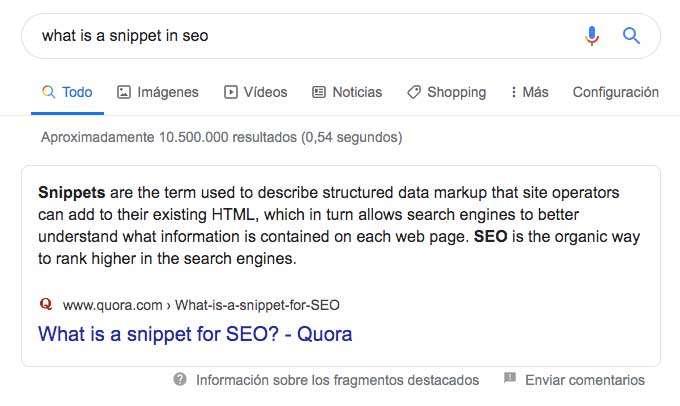 Qué son los fragmentos destacados o featured snippets en Google