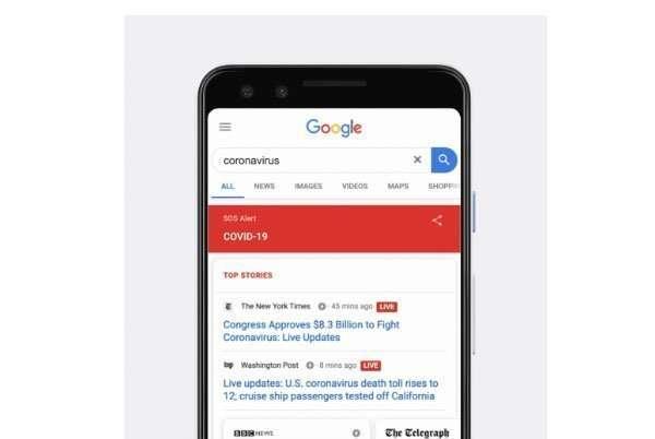 Las búsquedas sobre el coronavirus se disparan en Google
