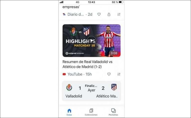 YouTube gana La Liga en Google Discover