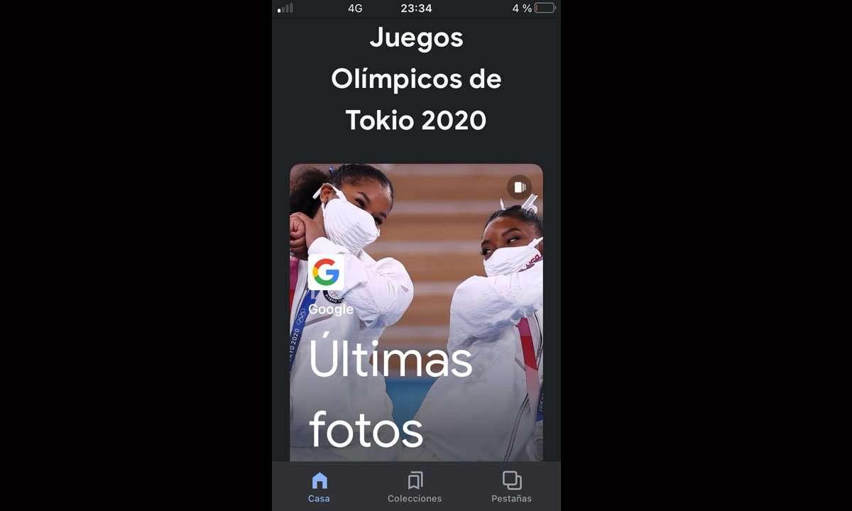 Google Discover en los Juegos Olímpicos de Tokyo 2020